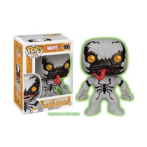 Funko Pop Anti-Venom Brillante en la Oscuridad (Marvel 100) Funko Pop Marvel