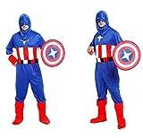 Captain America Costume Adulte Taille Carnaval DéGuisement Et H - Dfr