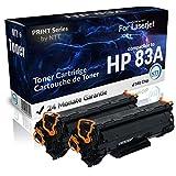 N.T.T.® 2x Kompatibel zu HP-83A / CF283A Toner (Black/Schwarz) für HP Laserjet Pro M125 M126 M127 M128 M201 M202 M225