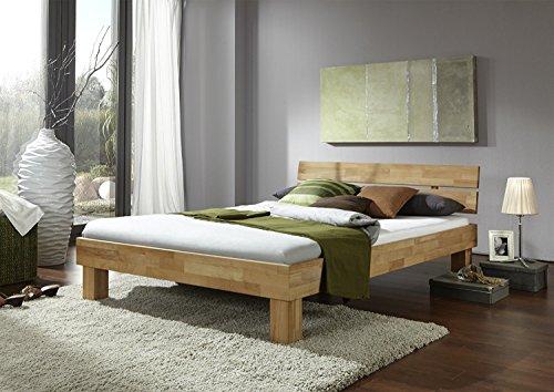 Futonbett Schlafzimmerbett – SKARA – Kernbuche Buche geölt Bett Liegefläche 90 x 200 cm inkl 2 Schubladen + 7-Zonen Lattenrost