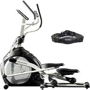 skandika Crosstrainer CardioCross Carbon Pro SF-3200, 23,5 kg Schwungmasse, wartungsarmes Bremssytem über Magnettechnologie, Transportrollen, Kalorienverbrauch, Zeit und und Pulsmessung