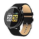 Premewish Fitness Smartwatch,Bluetooth Smart Watch Uhr mit Pulsmesser Wasserdicht IP67 Fitness Tracker Schrittzähler Schlafmonitor für Android und iOS (Schwarz 1)