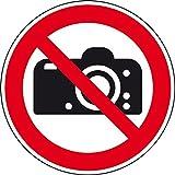 LEMAX® Verbotsschild Fotografieren verboten, ISO, Folie, selbstklebend, Ø100mm