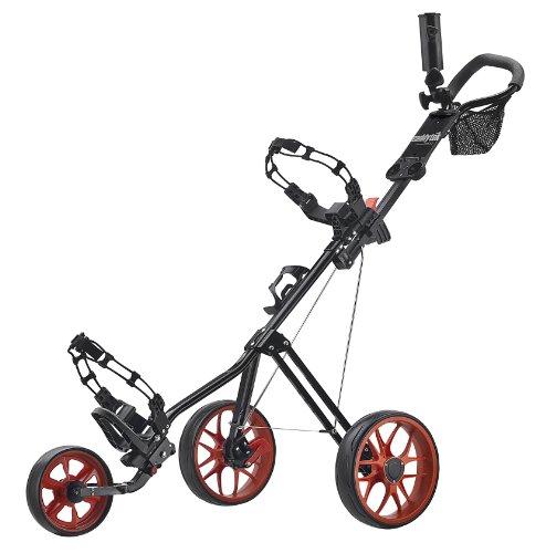 Caddytek Superlite Deluxe Chariot de Golf, Noir/Orange