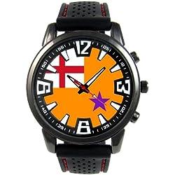 Ireland Orange Order Flag Mens Black Jelly Silicone Wrist Watch