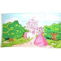 Fahne Flagge Prinzessin und Prinz auf Pferd 40 x 60 cm Premiumqualität