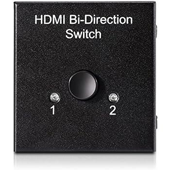 KEEDOX® Commutateur HDMI Switch HDMI manuel Bi-Direction