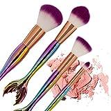 Gaddrt Neue Ankunft 4 Stück Meerjungfrau Foundation Lidschatten Kontur Augen Lippe Make-Up Pinsel Set