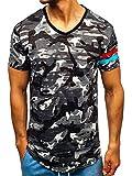 BOLF Hombre Camiseta de Manga Corta MJ.Style 309 Gris L [3C3]