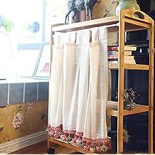 TINE HOME CURTAINS Cortina Romana Tulle Beige Gauze Café Cortina Cortina Cocina Cortina Corta Semi-