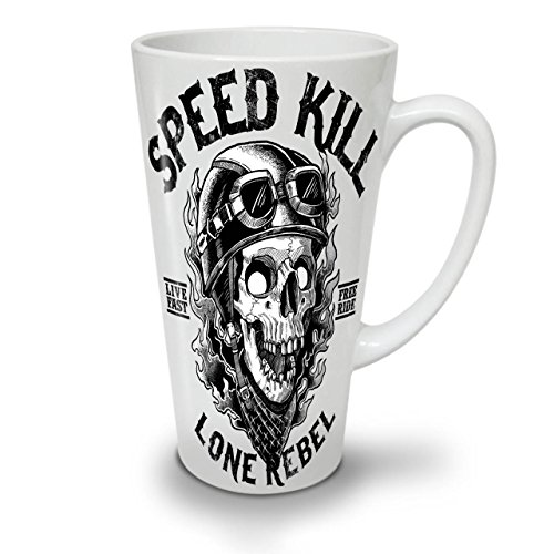 Geschwindigkeit Töten Schädel Horror WeißTee KaffeKeramik Kaffeebecher 17 | Wellcoda