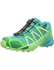 Salomon Femme Speedcross 4 GTX, Black/Black/Metallic Bubble Blue, Synthétique/Textile, Chaussures de Course à Pied et Trail running, Taille 36