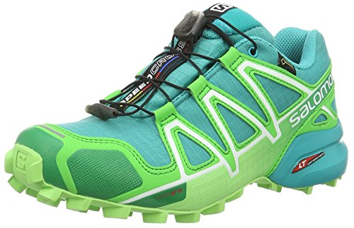 Salomon Speedcross 4 Gtx, Scarpe da Trail Running Donna, Blu (Teal Blue/Peppermint/Fresh Green), 40 EU