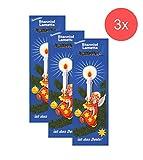 TK Gruppe Timo Klingler 3X Lametta Stanniol Hochwertiges Lametta für Weihnachtsbaum Tannenbaum Weihnachtsdeko lang matt (3X Silber)