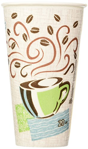 Dixie Perfectouch Insulated Paper Hot Cup, Coffee Haze Design, 100 Count by Dixie