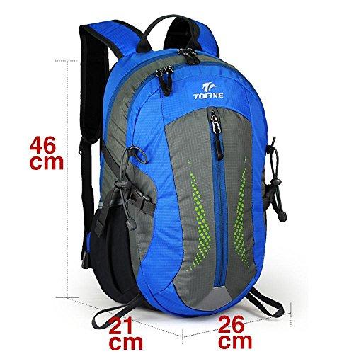 ALUK-Lesbiche borsa del computer spalla sacchetto di svago e viaggi d'affari all'aperto trekking impermeabile zainetto blu