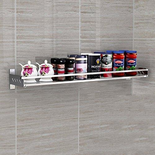 Storage rack. ripiano per cucina portaspezie sospeso in acciaio inox 304 ciondolo multifunzione per uso domestico risparmia spazio e carica (colore : a, dimensioni : 50cm)