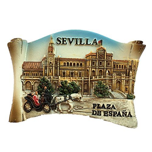 Sevilla Spain Europe World City resin 3d strong magnet for fridge souvenir tourist gift Chinese magnet handmade creative home and kitchen magnetic decoration