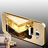 Samsung Galaxy J7 2016 Hülle, Handyhülle [Metall Bumper Alu Case 2 in 1] Schutzhülle für Samsung Galaxy J7 2016 Back Cover Rückschale [Gold]