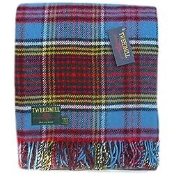 Tweedmill Textiles Anderson - Manta de lana, diseño de cuadros escoceses