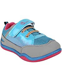MYAU Kid's Girls Boys Light Blue Pink Stylish Comfortable Soft Casual & Sporty Look Shoes
