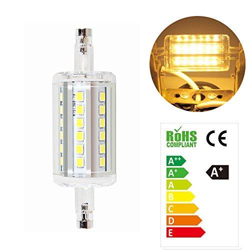 Neverland 5W R7S LED 78mm 36*SMD2835 Leuchtmittel Fluter Strahler Leuchte Xmas Halogenstab Warmweiß 360°AC 85V-265V