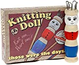 Retro Wooden Vintage Style French Knitting Doll with Wool
