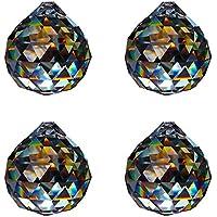 Sfera di cristallo D.20mm Esoterico–Confezione da 4–Arcobaleno Cristallo Feng Shui–Decorazione