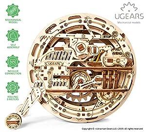UGEARS Kit de Puzzle 3D de Madera Maqueta Mecánica de Monorueda | Manualidades Rompecabezas para Adultos | Juguete de Aprendizaje Puzle DIY para Niños | Set de Construcción de Madera Kit de Puzle 3D