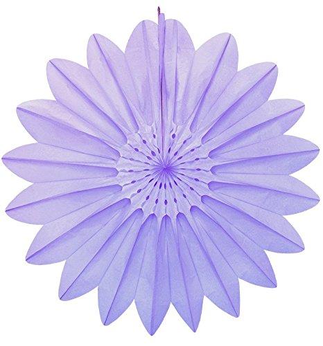 Papier Fantasies?Tissue Papier Fan Dekoration 67cm?Lavendel # 7174?004