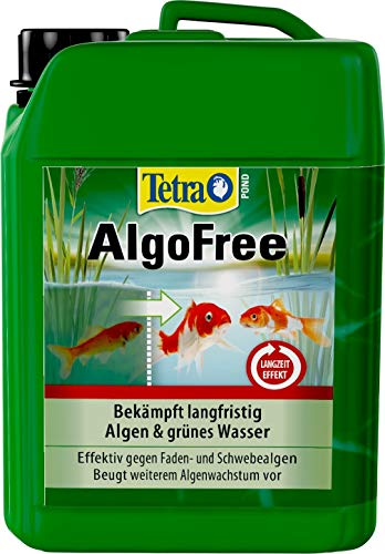 Tetra Pond AlgoFree (beseitigt effektiv grünes Wasser im Gartenteich, z.B. aufgrund Schwebealgen), 3 Liter Flasche