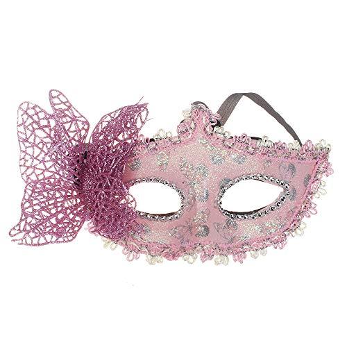 Lazzboy Karneval Maske Schmetterlingsmaske für Party(Rosa)