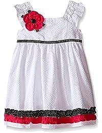 ce87d03a5e5 Rare Editions Newborn Girl White Seersucker Dress Set (3m-9m) (9 months