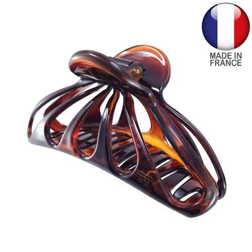 460 – 003 – Pince pour cheveux français ajourée cm 7 Couleur Tortue – Pinces pour Cheveux
