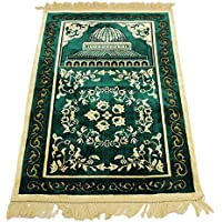 Homelex Alfombra turca islámica Musulmana de Cachemira para Rezar Ramadan Eid Gifts