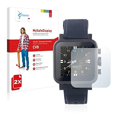 2x Vikuiti MySafeBildschirm CV8 Bildschirmschutz Schutzfolie für Simvalley Mobile AW-420.RX (Ultraklar, strak haftend, versiegelt Kratzer)