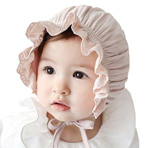 Scothen Baby Kinder Kleinkinder-Sonnenhut Kinnriemen,Kordelzug,Einstellbare Kopfgröße,Atmungsaktiv,UV-Schutzfaktor 50+ Fischenhut Sonnenhut Mütze Outfit Sonnenmütze Süß Hut für Kinder Mädchen Baby -