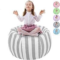 Preisvergleich für Multifunktionale Segeltuch Schmutzige Kleidung Organizer Kinder Spielzeug Speicher Tasche - Aufbewahrungsbeutel Sitzsack Kinder Soft Pouch Stoff Stuhl