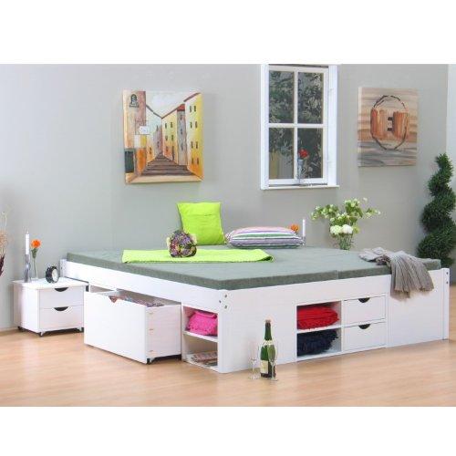 Dynamic24 Doppelbett Till Bettgestell Ehebett Rahmen Bett Schlafzimmer 180 x 200 Massiv