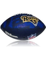 Wilson Football NFL Junior St. Louis Rams Logo - Balón de fútbol americano ( infantil, caucho ), color multicolor, talla 5