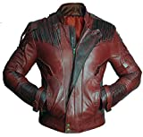 Superior Leather Garments Herren Duffle Jacke rot kastanienbraun Gr. Medium, kastanienbraun