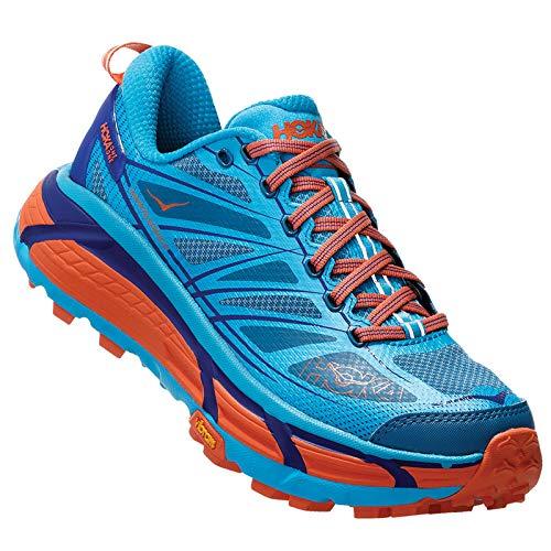 HOKA ONE One Mafate Speed 2 Scarpe Sport Donne Blu/Turquoise/Arancio - 38 - Running/Trail