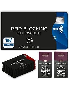 RFID Blocking NFC envoltura protectora (12 piezas) de tarjeta de crédito, carnet de identidad, carta bancomat,...