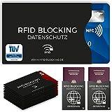 Vertrauen Sie nur dem TÜV geprüften und zertifizierten Original: RFID Blocking NFC Schutzhüllen Alle Original RFID Blocking NFC Schutzhüllen schirmen zuverlässig NFC-Chips bzw. Antennen ab, so dass die Karte nicht mehr ausgelesen werden kann. Sowohl ...