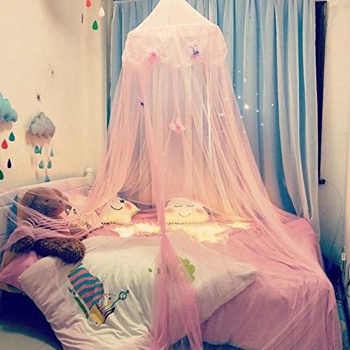 Zelt Haus für Mädchen Moskitonetz Neue Kinderzimmer Kuppel Zelt Baldachin Bett Volant Zelt mit blauen rosa weißen Sternen Traumzelt Zimmerdekoration Spielzelt