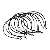 SODIAL(R) 10x Metall Satin Haarreif Haarband Harrschmuck Damenschmuck Schwarz NEU