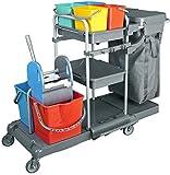 Nova Clean Tools KHA3301 Deluxia Profi Reinigungswagen PE