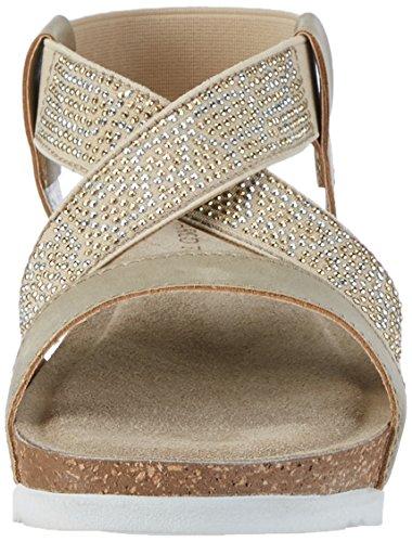 Marco Tozzi Damen 28734 Offene Sandalen mit Keilabsatz Silber (Platinum 957)