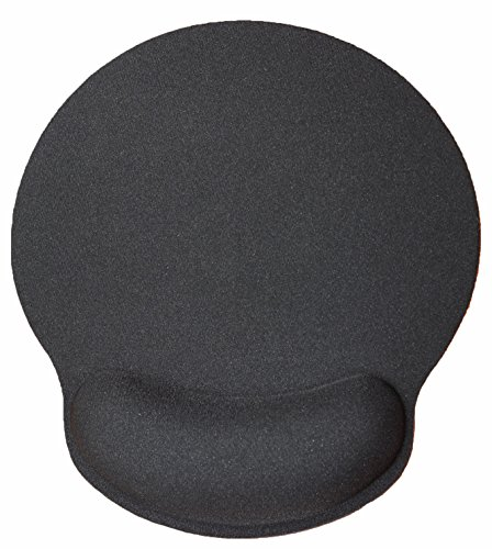Silent Monsters ergonomisches Komfort Mauspad mit Handauflage aus Gel, schwarz