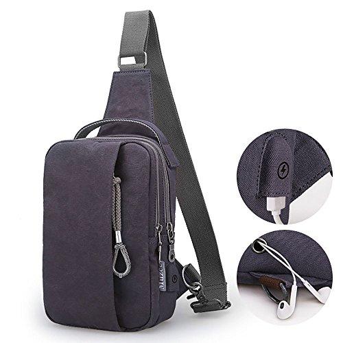 Anjcd Chest Pack Männer Messenger Bag Canvas Kleine Rucksack Mode Schultertaschen 5#